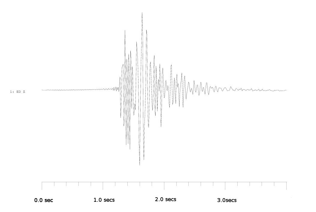 Seismogram of explosion