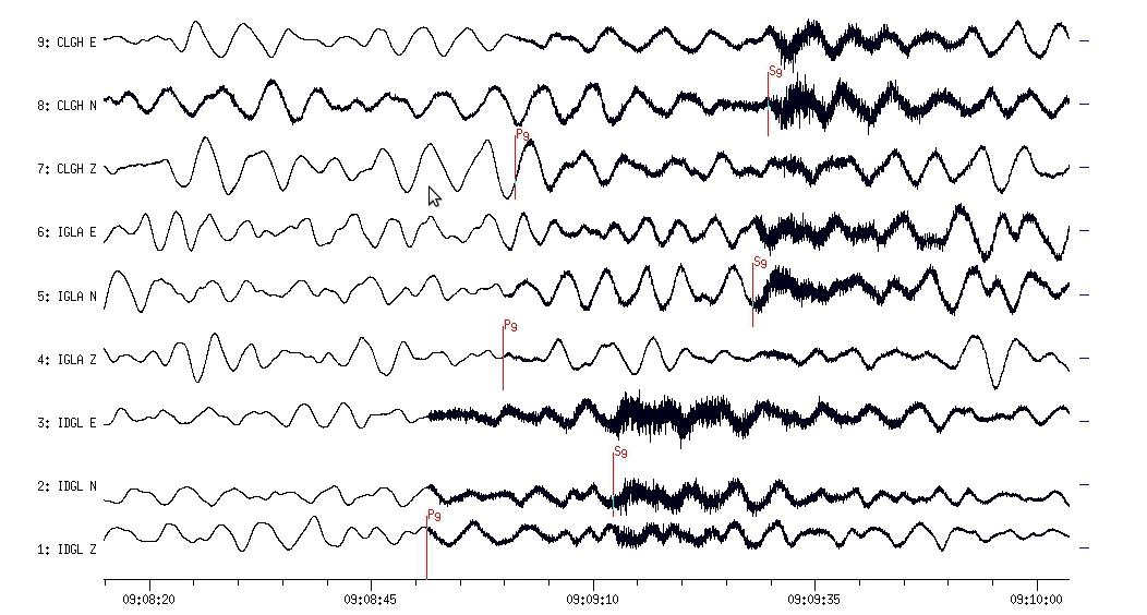 Earthquake traces