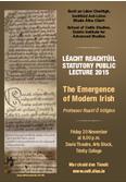 Statutory Public Lecture 2015