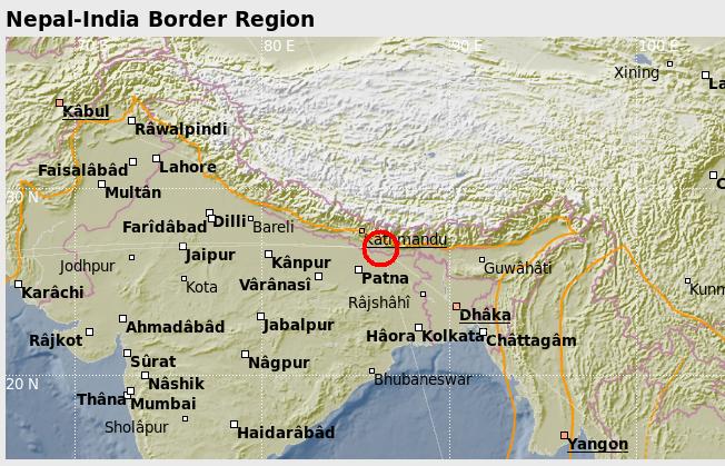 Nepal 20150512 map
