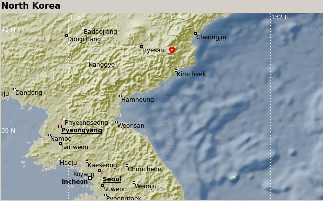 N Korea map
