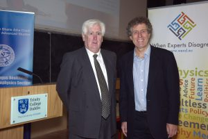 Cecil Keaveney (DIAS Registrar) with Prof. Tim Palmer