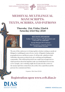 Medieval Multilingual Manuscripts conference poster