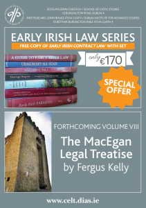 Early Irish Law Series poster